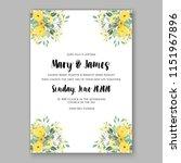 floral wedding invitation... | Shutterstock .eps vector #1151967896
