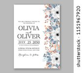 floral wedding invitation...   Shutterstock .eps vector #1151967920