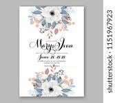 floral wedding invitation... | Shutterstock .eps vector #1151967923
