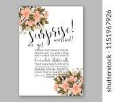 floral wedding invitation... | Shutterstock .eps vector #1151967926