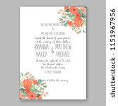 floral wedding invitation... | Shutterstock .eps vector #1151967956