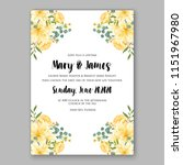 floral wedding invitation... | Shutterstock .eps vector #1151967980