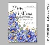 floral wedding invitation... | Shutterstock .eps vector #1151967983