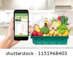 grocery online shopping... | Shutterstock . vector #1151968403