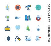 science vector icons set.... | Shutterstock .eps vector #1151971610