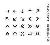 arrow icon set | Shutterstock .eps vector #1151972450
