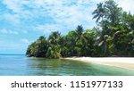 just a little paradise island... | Shutterstock . vector #1151977133