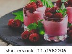 raspberry granita with berries... | Shutterstock . vector #1151982206