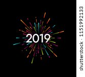 happy new 2019 year. holiday... | Shutterstock .eps vector #1151992133