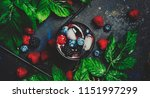 cocktail with vodka  berry... | Shutterstock . vector #1151997299