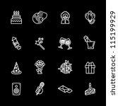 birthday icons set | Shutterstock .eps vector #115199929