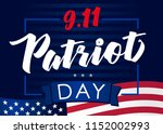 patriot day usa never forget 9... | Shutterstock .eps vector #1152002993