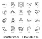 set of 20 icons such as... | Shutterstock .eps vector #1152003443