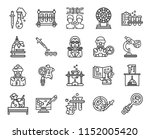 set of 20 icons such as biology ... | Shutterstock .eps vector #1152005420