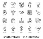 set of 20 icons such as heart ... | Shutterstock .eps vector #1152006059