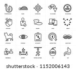 set of 20 icons such as gut ... | Shutterstock .eps vector #1152006143