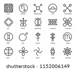 set of 20 icons such as... | Shutterstock .eps vector #1152006149