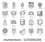 set of 20 icons such as theater ...