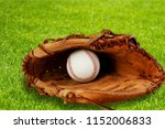 baseball glove with a ball | Shutterstock . vector #1152006833