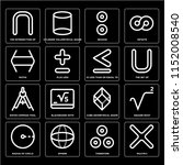 set of 16 icons such as... | Shutterstock .eps vector #1152008540