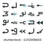 set of 20 simple editable icons ... | Shutterstock .eps vector #1152008603
