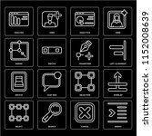 set of 16 icons such as indent  ...