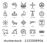 set of 20 simple editable icons ... | Shutterstock .eps vector #1152008906
