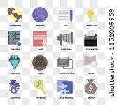 set of 16 icons such as invest  ... | Shutterstock .eps vector #1152009959