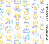 success seamless pattern with... | Shutterstock .eps vector #1152010379