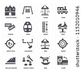set of 16 icons such as climb ...   Shutterstock .eps vector #1152010946
