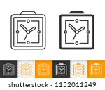alarm clock black linear and... | Shutterstock .eps vector #1152011249