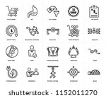set of 20 simple editable icons ... | Shutterstock .eps vector #1152011270