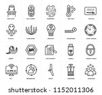 set of 20 icons such as... | Shutterstock .eps vector #1152011306