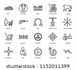 set of 20 icons such as avoid ... | Shutterstock .eps vector #1152011399