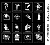 set of 16 icons such as... | Shutterstock .eps vector #1152011810