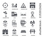 set of 16 icons such as...   Shutterstock .eps vector #1152012626