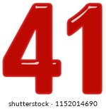 numeral 41  forty one  isolated ... | Shutterstock . vector #1152014690