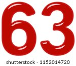 numeral 63  sixty three ... | Shutterstock . vector #1152014720