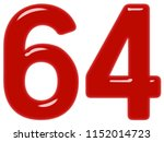 numeral 64  sixty four ... | Shutterstock . vector #1152014723
