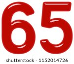 numeral 65  sixty five ... | Shutterstock . vector #1152014726