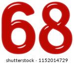 numeral 68  sixty eight ... | Shutterstock . vector #1152014729