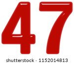 numeral 47  forty seven ... | Shutterstock . vector #1152014813