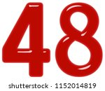 numeral 48  forty eight ... | Shutterstock . vector #1152014819
