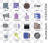 set of 16 icons such as link ... | Shutterstock .eps vector #1152015206