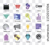 set of 16 icons such as target  ... | Shutterstock .eps vector #1152015506