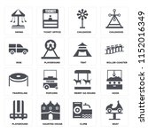 set of 16 icons such as boat ...   Shutterstock .eps vector #1152016349