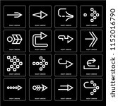 set of 16 icons such as right... | Shutterstock .eps vector #1152016790