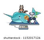 there are three animals  narval ...   Shutterstock .eps vector #1152017126
