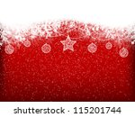 winter background with... | Shutterstock .eps vector #115201744