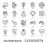 set of 20 icons such as heart ... | Shutterstock .eps vector #1152020576